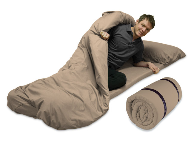4cm Duvalay Luxury Memory foam Sleeping Bag 66cm wide.